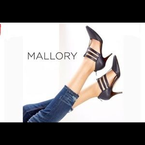 Sole Society Mallory Black Leather Heels